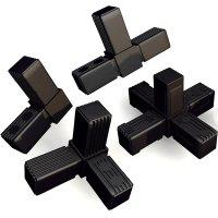 steckverbinder f r 4 kant rohre bis 400 kg belastbar 3d alu online. Black Bedroom Furniture Sets. Home Design Ideas
