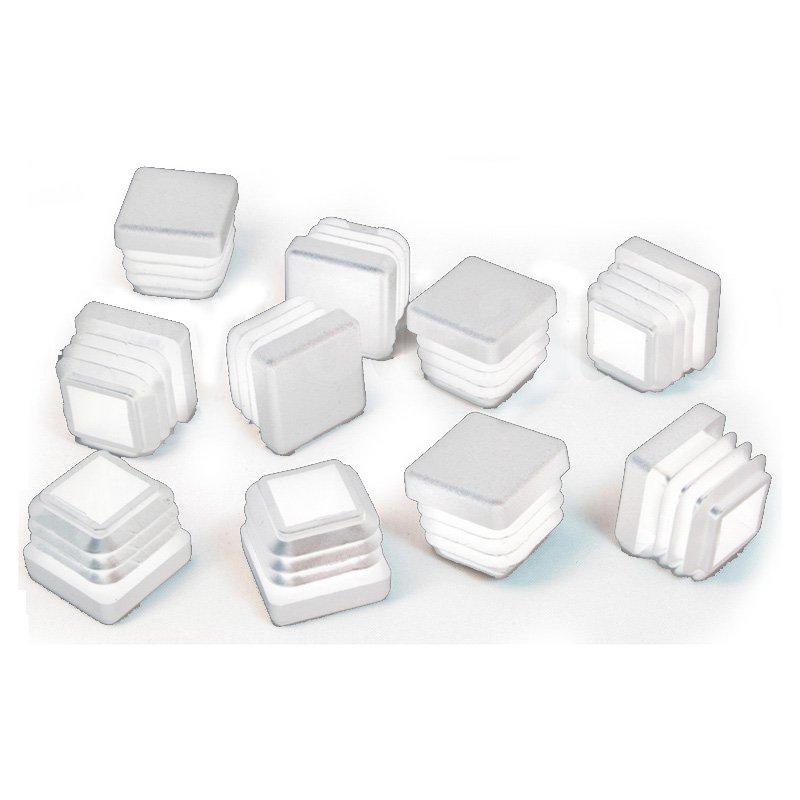 20 x 20 mm gleiter wei quadratisch 3d alu online shop. Black Bedroom Furniture Sets. Home Design Ideas
