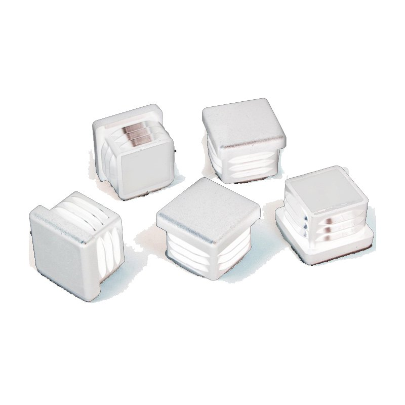 25 x 25 mm gleiter wei quadratisch 3d alu online shop. Black Bedroom Furniture Sets. Home Design Ideas