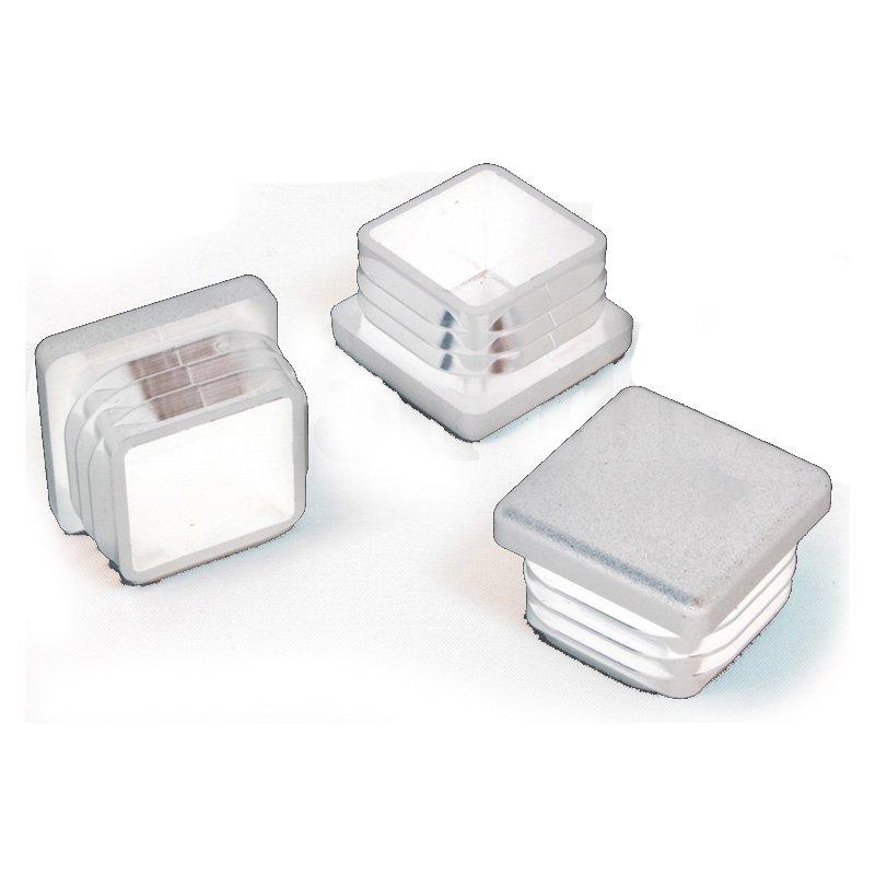 30 x 30 mm gleiter wei quadratisch 3d alu online shop. Black Bedroom Furniture Sets. Home Design Ideas