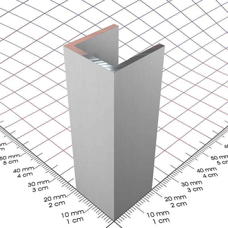20 x 20 x 2 mm alu u profil 3d alu online shop - Profile aluminium u ...