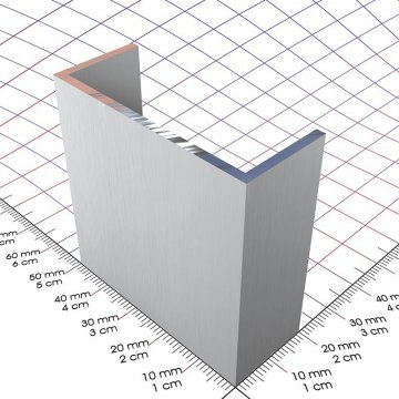 20 x 50 x 20 x 2 mm, alu u-profil - 3d-alu online-shop