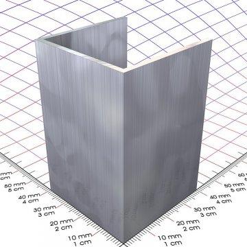Cool 40 x 40 x 2 mm, Alu U-Profil - 3D-Alu Online-Shop VN36