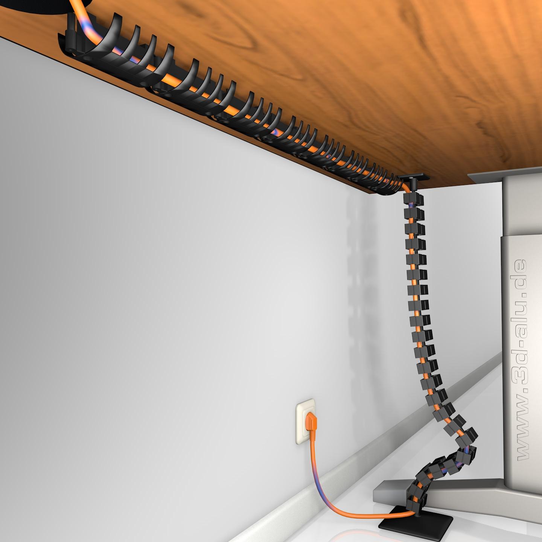 Kabelführung unter dem Schreibtisch