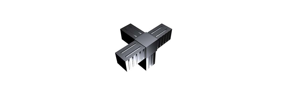 SV40 Steckverbinder für 40 x 40 mm Rohre - SV40 Steckverbinder für 40 x 40 mm Rohre