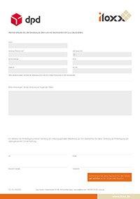 iloxx/DPD Abstellerlaubnis