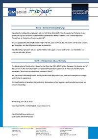 RoHSH Konformitätserklärung