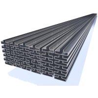 OMwall Profil, Aluminium blank, aus 6 Meter Längen