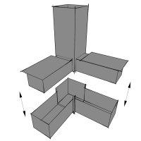 SV25WA, Steckverbinder: Winkel mit Abgang für Rohr 25x25x1,5mm