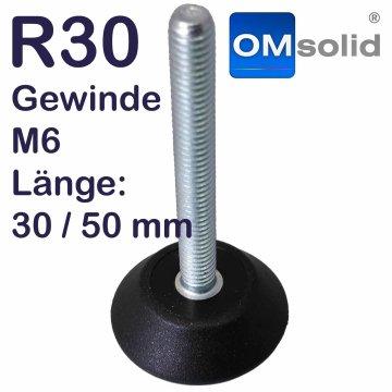 R30: M6, Stellfuß mit Gewindeschraube