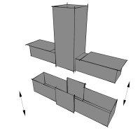 SV25T, Steckverbinder: T-Stück für Rohr 25x25x1,5mm