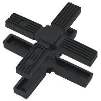 SV25K, Steckverbinder: Kreuz für Rohr 25x25x1,5mm