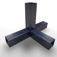 SV30TA+SK, T-Stück mit Abgang, Steckverbinder mit Stahlkern, für Rohr 30x30x2mm