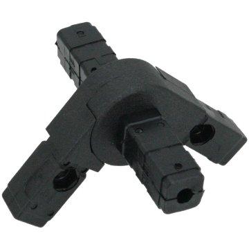 SV20G4, Gelenkverbinder 0°-190° und 4 Zapfen für Rohr 20x20x1,5mm