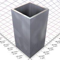 30 x 30 x 2 mm, blank, Alu 4-Kantrohr in Fixlängen
