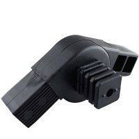 SV40G3, Steckverbinder mit Gelenk 0°-180° und 3 Zapfen für Rohr 40x40x2mm