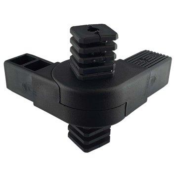 SV40G4, Steckverbinder mit Gelenk 0°-180° und 4 Zapfen für Rohr 40x40x2mm
