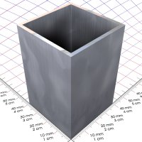 300 mm Alu 4-Kantrohr, blank, 40 x 40 x 2 mm