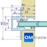 OMtrace Profil A für 8 mm Glas in Fixlängen