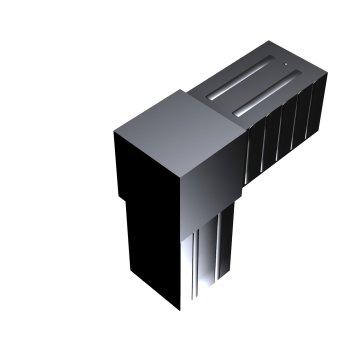 SVe40W, Steckverbinder Winkel für Rohr 40x40x2mm
