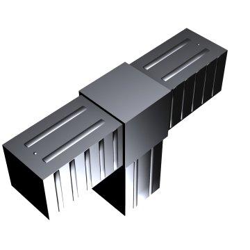 SVe40T, Steckverbinder T-Stück für Rohr 40x40x2mm