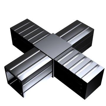 SVe40K, Steckverbinder Kreuz für Rohr 40x40x2mm