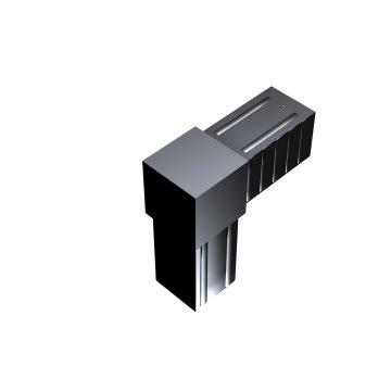 SVe30W - Steckverbinder Winkel für Rohr 30x30x2mm