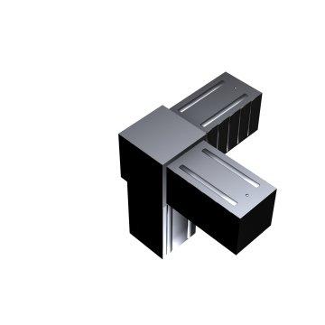 SVe30WA - Steckverbinder Winkel mit Abgang für Rohr 30x30x2mm