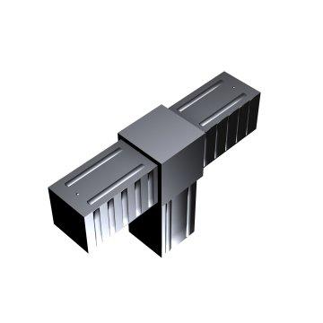 SVe30T - Steckverbinder T-Stück für Rohr 30x30x2mm