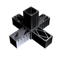SVe30KA, Steckverbinder Kreuz mit Abgang für Rohr 30x30x2mm
