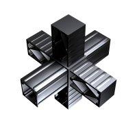 SVe30S, Steckverbinder Stern für Rohr 30x30x2mm