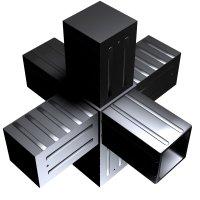 SVe40S, Steckverbinder Stern für Rohr 40x40x2mm