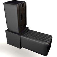 SV30W, Steckverbinder Winkel für Rohr 30x30x2mm