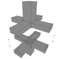 SV30S, Steckverbinder Stern für Rohr 30x30x2mm