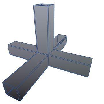 SV20KA, Steckverbinder Kreuz mit Abgang