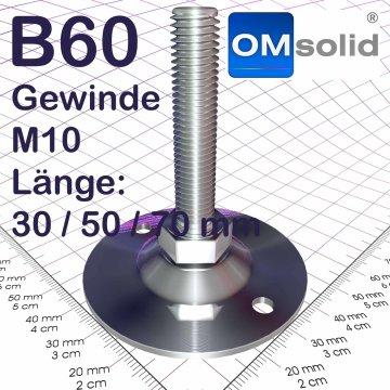 B60: M10, Stellfuß mit Gewindeschraube
