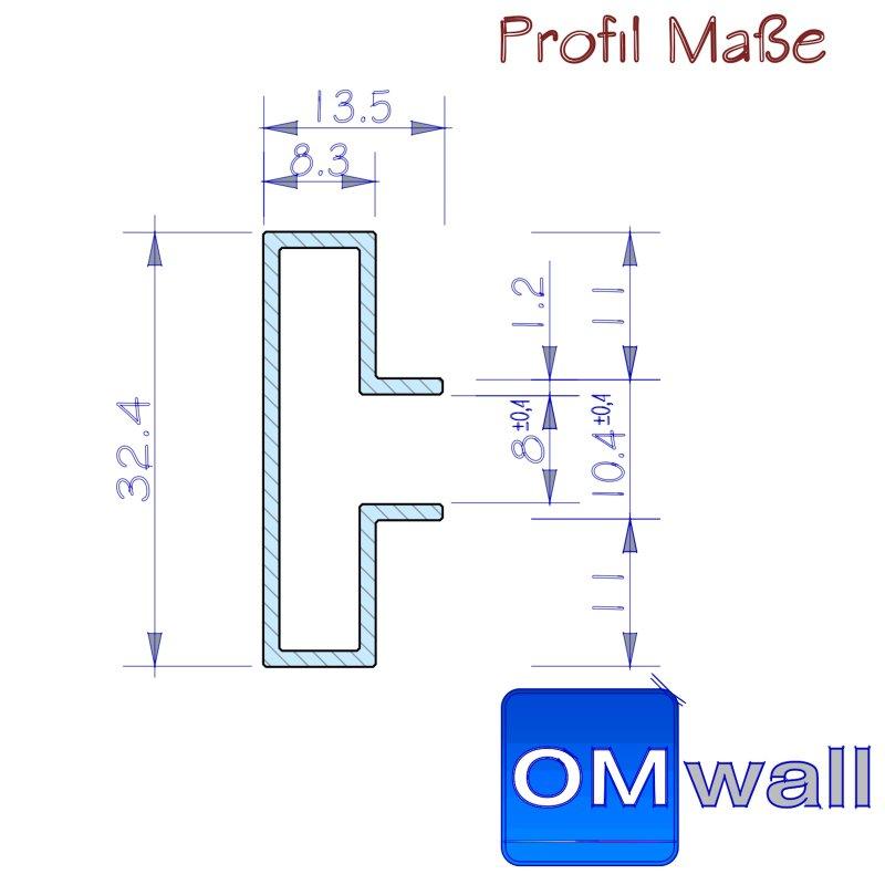 Wall Profil In Fixl Ngen 3D Alu Online Shop