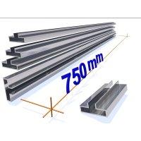 OMwall Profil, Aluminium blank, 750 mm