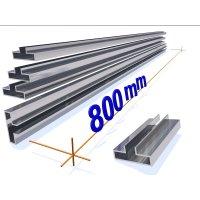 OMwall Profil, Aluminium blank, 800 mm