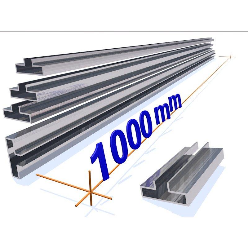 wall profil aluminium blank 1000 mm 3d alu online shop. Black Bedroom Furniture Sets. Home Design Ideas