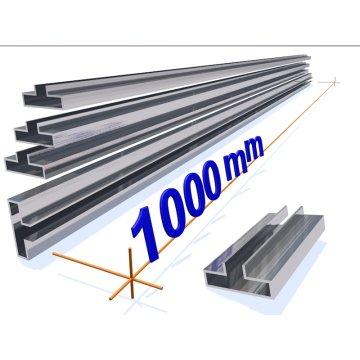 OMwall Profil, Aluminium blank 1000 mm