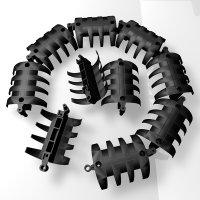 Set mit 10 Elementen wire-snake Kabelkanal - schwarz |...
