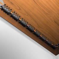 Set mit 10 Elementen wire-snake Kabelkanal - schwarz | Kabelführung für Schreibtisch, Arbeitstisch, Werkbank