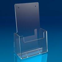 Prospekthalter 1 Fach DL (1/3 A4) hochkant, transparent