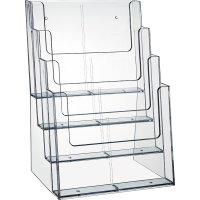 Fachteiler für 4-fach A4 Ständer, transparent