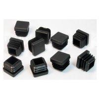 20 x 20 mm, Gleiter schwarz, quadratisch
