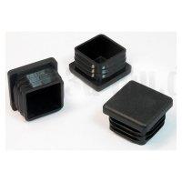 30 x 30 mm, Gleiter, schwarz, quadratisch