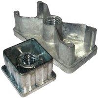 M10 Stelleinsatz für Shop-Rohr aus Grauguss mit Gewinde