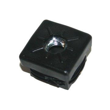 M10, 30 x 30 mm, Rohrbuchse mit Gewinde für Quadratrohr