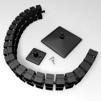 """OMsolid® Kabelführung """"KF80"""" schwarz..."""